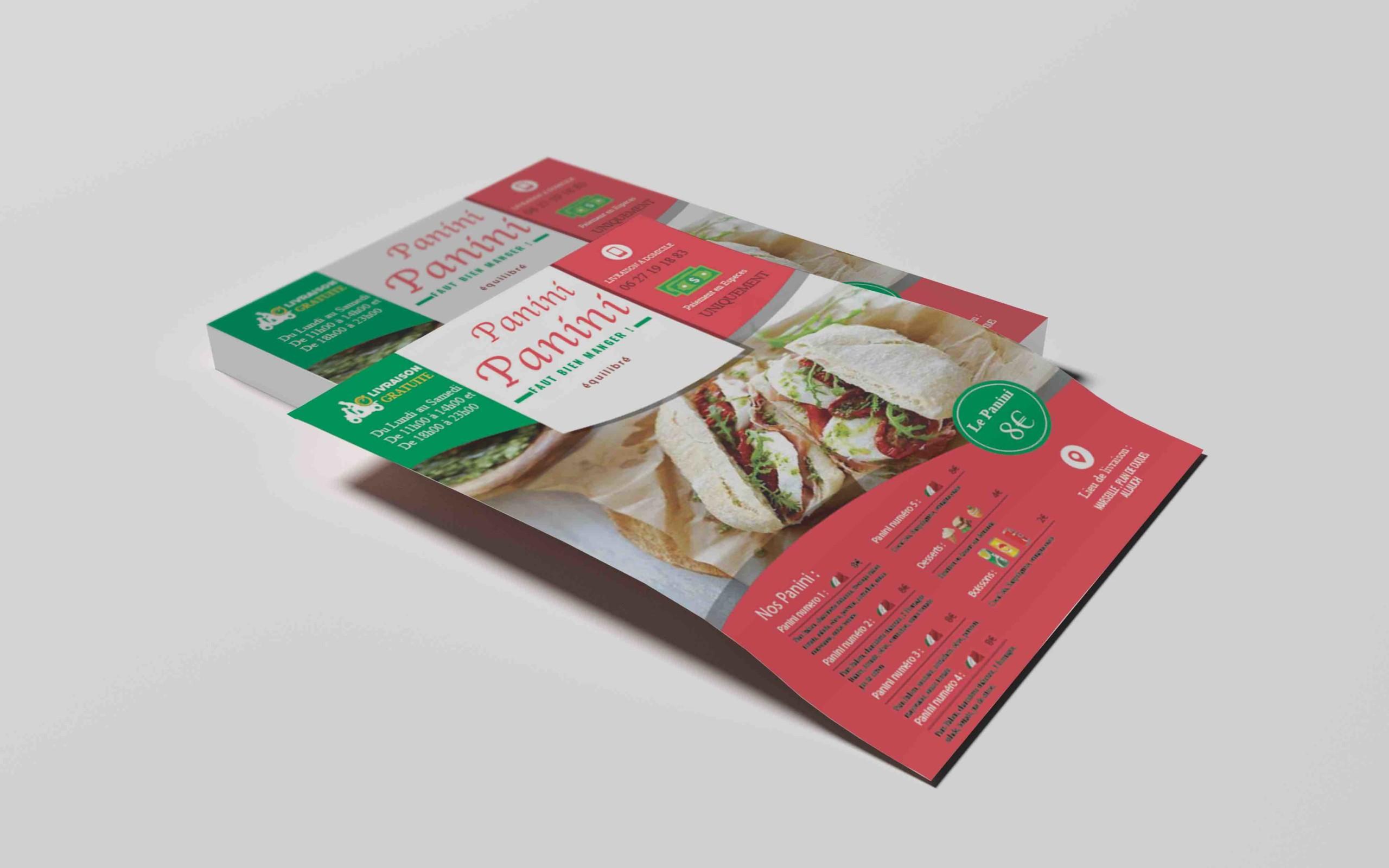 flyer panini couleur itali