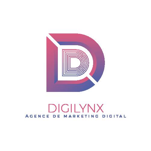logo digilynx lettre D avec texte