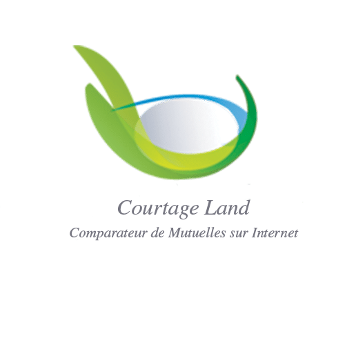 logo courtale land logo en forme d'oeil vert bleu blanc