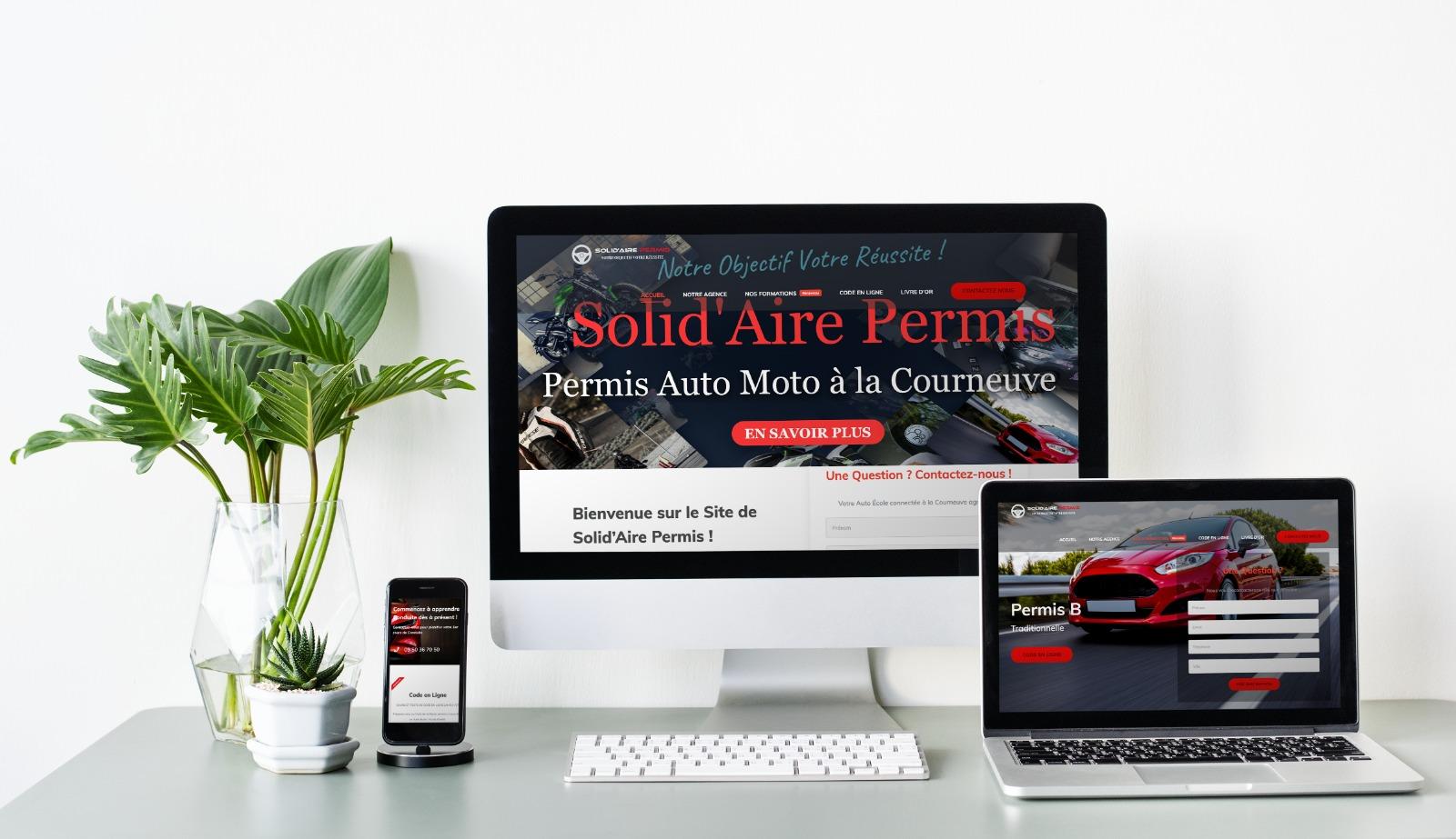 Création site internet auto ecole solidaire permis